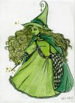 Green Witch by laranarenee
