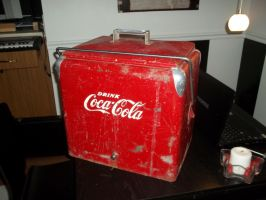 1950's Coke Cooler before by pwt123