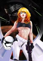 Pinup storm trooper by Mark42m