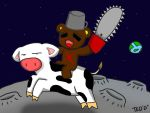 Teddae and the cow that jumped over the moon by ReverseImaku