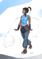 Korra Sketch by DarrenGeers