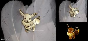 Eevee handmade brass needle minder by seralune