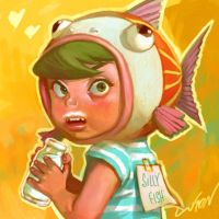 silly fish by cuson