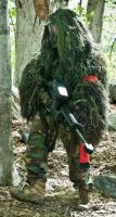 Ghillie suit: Paintball by StreakThunderstorm