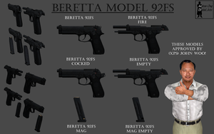 Beretta M92FS Model Pack (BETA Release) by andrewong1980