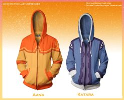 Avatar Hoodies! [Aang and Katara] by prathik