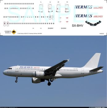 1/144 Airbus A320-211 Hermes Airlines SX-BHV by WombatsModels