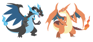Mega Charizard X and Y - Pokemon X Y Vector by firedragonmatty