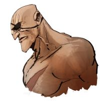 sagat bust by anjinanhut