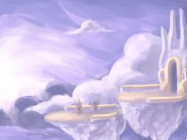 cloud spires by Happypants3