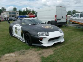 Toyota Supra Police Front by CynderxNero