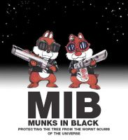 Chip'n Dale:MIB by vforvengeance