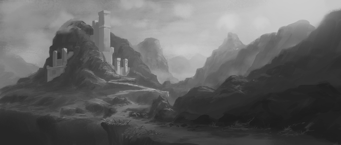 Mountain Castle by SDFleshmaster
