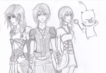 FINAL FANTASY XIII-2 CAST by lightningff134