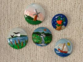 miniature nauticle magnets by KRSdeviations