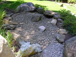 Japanese Stone Garden by TornPageDyedRed