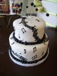 Musical birthday cake by see-through-silence