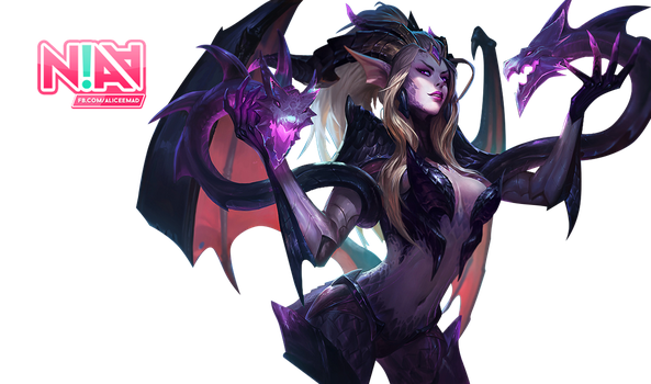 Dragon Sorceress Zyra Render - League of Legends by AliceeMad