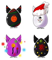 Seasonal Kitsune Eggs Cheap Auction (CLOSED) by starscreamfan10100
