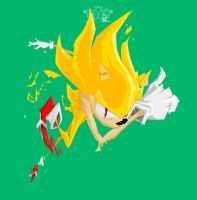 Angry Super Sonic by MykeSon