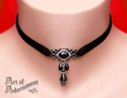 Nocturne Velvet Choker by ArtOfAdornment