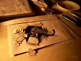 3d drawing by fredo (me) by Nxio