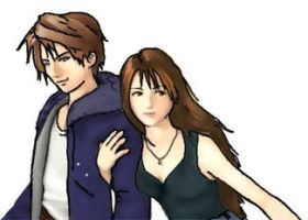 Casual Squall and Rinoa by MellodyDoll