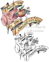Thank you For Your Consideration by lavonne