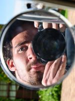 Mirror Self-Portrait by TheSoftCollision