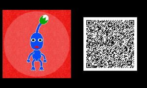 Freakyforms: Blue Pikmin QR Code by nintendolover2010