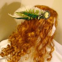 Elite Cameo Feather Fascinator by SteamSociety