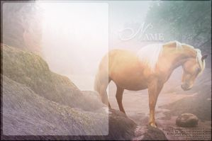 haflinger in mist by renderedsublime