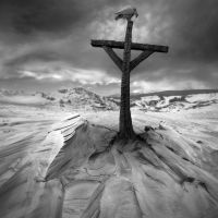 Burned Cross by Kleemass