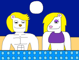 Murray and Monica Hot Tub by adamRY