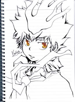 Tsuna and his golden eyes by ghostgirlcolombian