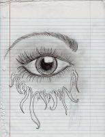 EYE drew this during class by cupcakemonique