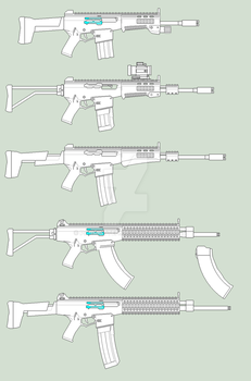 SA-AR-2 Pitbull Carbines and Rifles WIP update by parakitteh