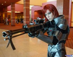 Commander Shepard: Scoping by FantasysHeart