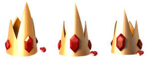 Ice King's Crown and Heart Gem by portadorX