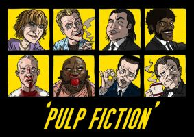 Pulp Fiction cast... by stayte-of-the-art