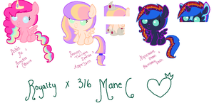 Royalty x 4/6 Mane 6 by mcmuffin4353