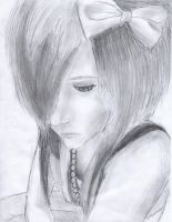 Emo Scene Girl Drawing by LuCkYrAiNdRoP