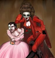 Pretty in Pink and Dead in Red by -agent-elle-