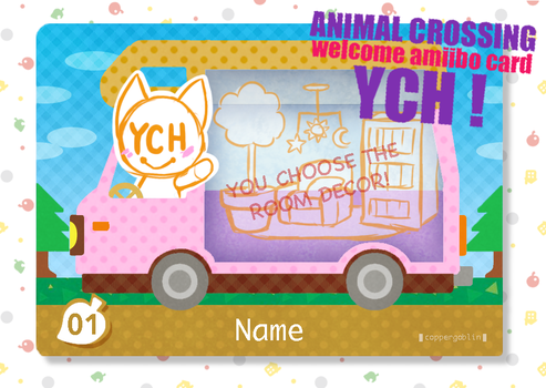 [YCH] Animal Crossing - Welcome Amiibo Card/Badge by 207-Designs