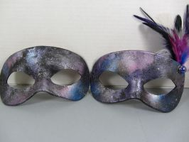 Space/Nebula masquerade masks by maskedzone