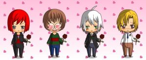 My Candy Love boys in chibi form~ by KonnichiwaKuma