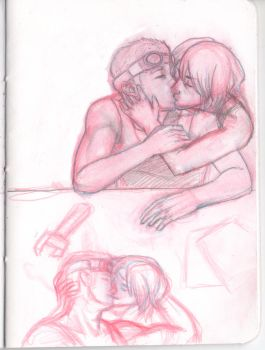 Baird and Sam Kissy Time by tare-musume