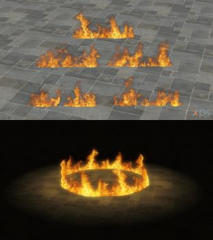 Fire (version 2) for XNALara/XPS by dasliebesverbot