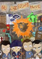 Mob of the Dead Sketchbook Cover First Draft by Krueger-Piexx