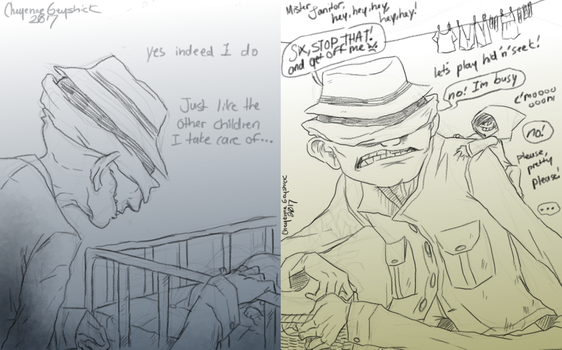 Little Nightmares doodles -3- by Cageyshick05